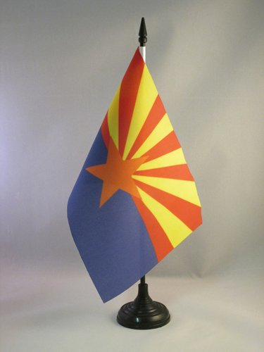 BANDIERA DA TAVOLO ARIZONA 21x14cm - PICCOLA BANDIERINA STATO AMERICANO – USA - STATI UNITI 14 x 21 cm - AZ FLAG
