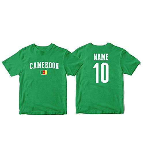 (nobrand Cameroon Men's National Pride Man Soccer Flag Team T-Shirt (Men Green S))