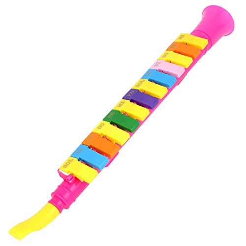 uxcell Musical Instrument Plastic Horn Design 13 Keys Mouth Organ Melodica Multicolor by uxcell