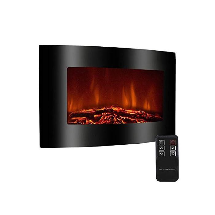 41aEa0XTRWL Efecto de horno de leña que reproduce las llamas de una chimenea Intensidad de las llamas regulable desde el mando a distancia Potencia 2000 W con termostato de seguridad
