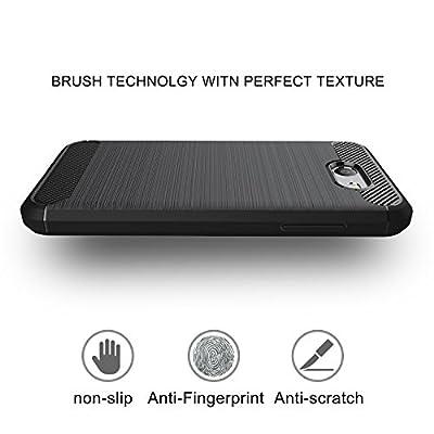 Moto Z Play Case,AnoKe Slim Carbon Fiber Scratch Resistant Shock Absorption Soft TPU Drawing Anti-fingerprint Phone case For Motorola Moto Z Play Droid(2016) HWLS from AnoKe