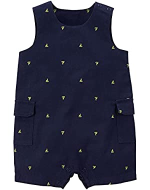Carter's Baby Boys' Print Romper (Baby) Sailboats