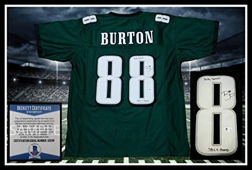 Trey Burton Autographed Signed Eagles Green Jersey - Beckett Authentic Philly Special (Eagles Green Signed Jersey)