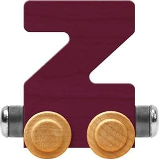 product image for Maple Landmark NameTrain Bright Letter Car Z - Made in USA (Purple)