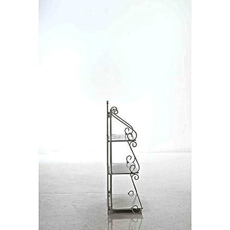 Klappregal mit 3 Ablagef/ächern im Landhausstil erh/ältlich Bronze CLP Eisen-Standregal Wally