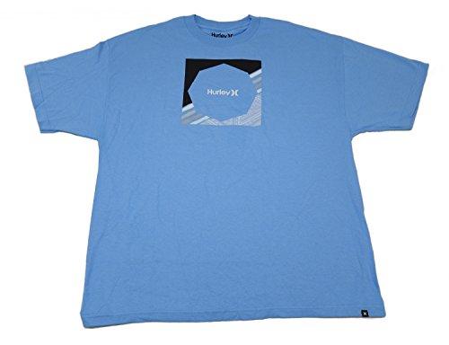 Hurley Mens Short Sleeve Crew Neck Graphic Design Falling Hard T-Shirt, Carb (Lt. Blue) (3X-Large)