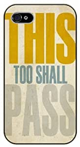 iPhone 4 / 4s This too shall pass - black plastic case / Life quotes, inspirational and motivational / Surelock Authentic