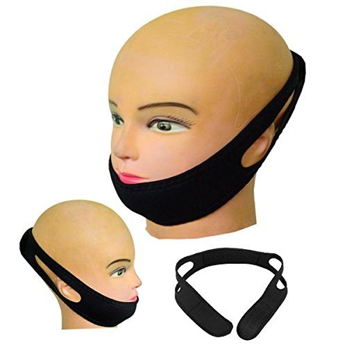 (Strap to Stop Snoring, Anti-snoring Unisex Jaw Belt, Get Restful Sleep and Wake Up Energized. Adjustable Chin Strap.)