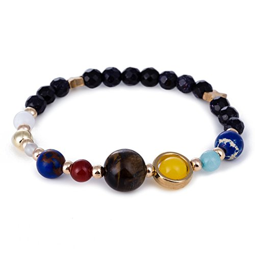 Lapis Star Bracelet (Natural Stone Bracelets, Morbuy Galaxy of the Universe System Lava Stone Guardian Star Bracelet Unisex Elasticity Natural Stone Yoga Bracelet Bangle (Lapis lazuli))