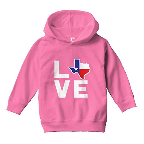 Love Texas - Texan Pride Strong Toddler/Youth Fleece Hoodie (Pink, 4T (Toddler))