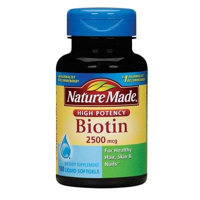 Nature Made 2.500 gélules mcg Biotine 180 Liquide de comptage