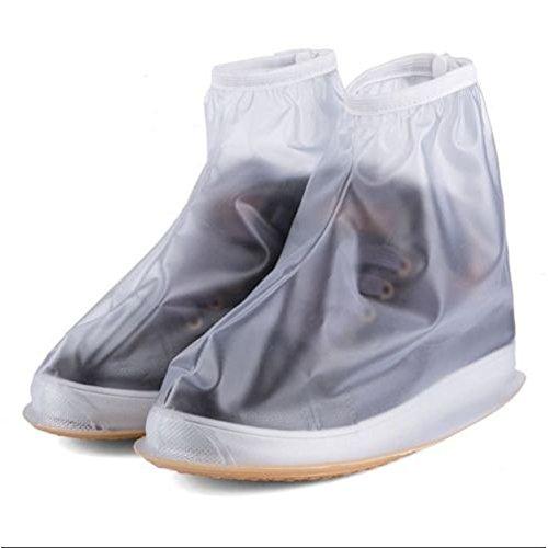 Abdeckung Weiß für Stiefel Regenkombi Rutschfestem Flache Damen Herren Schuhüberzieher Regenüberschuhe Überschuhe Oriskey Wasserdicht Jungen 1Paar Regen Mädchen Schuhe 7RITHBw