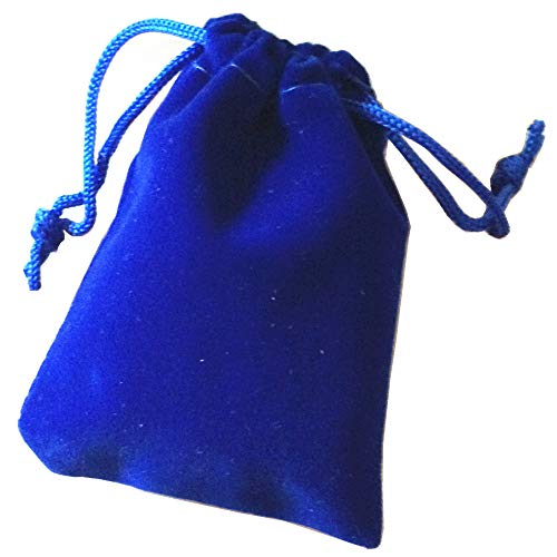 Pack of 25 Royal Blue Velvet Gift Bags Drawstring Jewelry Pouches Candy Bags Wedding Favors (4