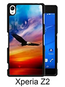 Flying Eagle Pattern Black Unique Abstract Custom Sony Xperia Z2 Case
