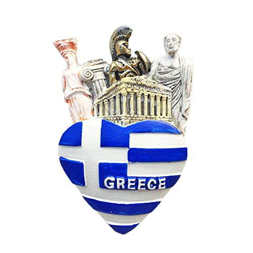 Greece Flag Heart-shaped 3D Refrigerator Magnet Travel Sticker Souvenirs Home & Kitchen Decoration Fridge Magnet from China