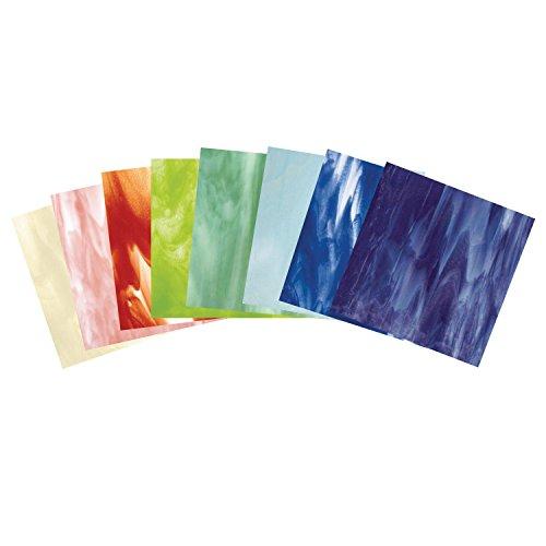 Streaky Glass - Bullseye Watercolor Streakies Glass Pack - 90 Coe