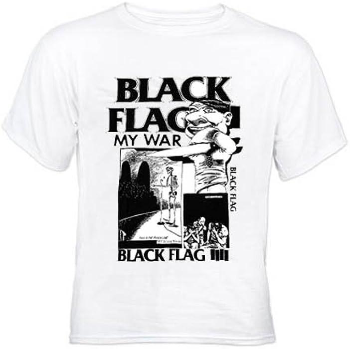 de23550916cdc Black Flag My War J64 White T-shirt (Medium): Amazon.co.uk: Clothing