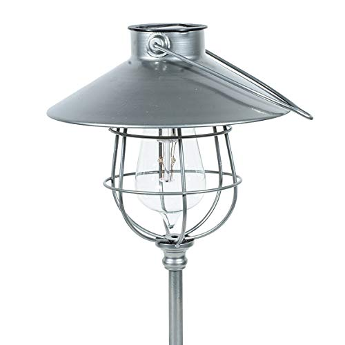 (Echo Valley 4526SPK2 EDI-Sol 2 in 1 Hanging Vintage Pendant Lantern Solar Lighting with Optional Garden Stake, Silver (Pack of 2))