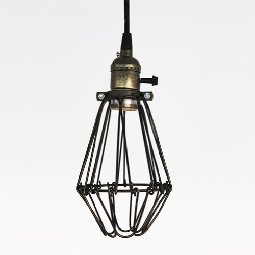 Ecopower Vintage Style Industrial Opening and Closing Hanging Light Pendant Wire Cage Lamp Guard
