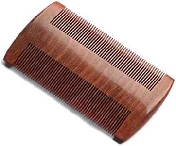 Qukick 赤いビャクダンの毛の櫛のハンドメイドの良い歯の櫛の帯電防止毛の櫛