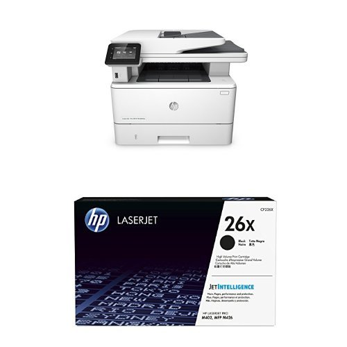 HP LaserJet Pro MFP M426fdw Wireless All-in-One Printer with Copy, Scan, Fax and Duplex Printing and HP 26X (Hp All N One Printers)
