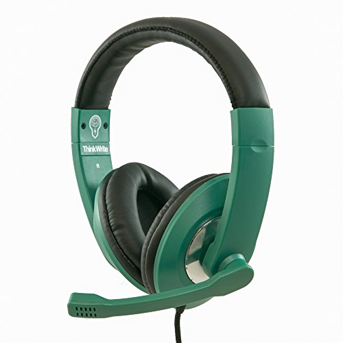 ThinkWrite Premium Headset for Apple iPad, Google Chromebook, Kindle Fire, Android Tablet and Laptops (Black) (Green)