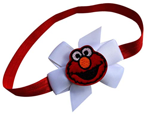Elmo Elastic Headband for Baby Toddlers and Pre School by Funny Girl Designs (0-12 Months)]()