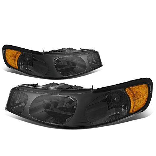 For Lincoln Town Car 3rd Gen Pair of Smoked Lens Amber Corner Headlight Lamp