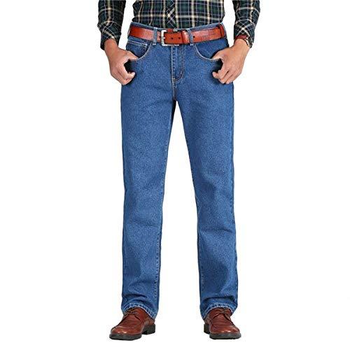 Classico Da Primavera In Jeans Dritto Autunno 2018 Pantaloni Alta T Uomo Cotone Skyblue Estilo Especial wZdwqxXz