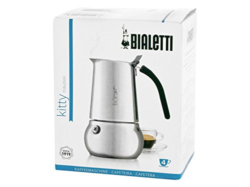 Bialetti Kitty Coffee Maker, Stainless Steel (4 Cups) by Bialetti
