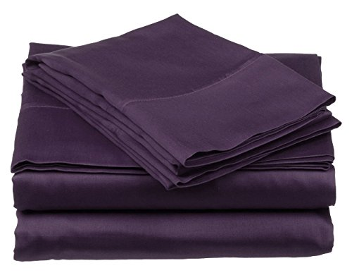 Ashley Taylor Designer Collection 6 Piece Sheet Set, Queen Size, Purple (Set Taylor Bed)