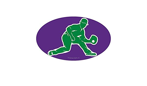 Amazon.com: ChalkTalkSPORTS Baseball Car Magnet | Baseball Fielder Silhouette | Purple: Automotive