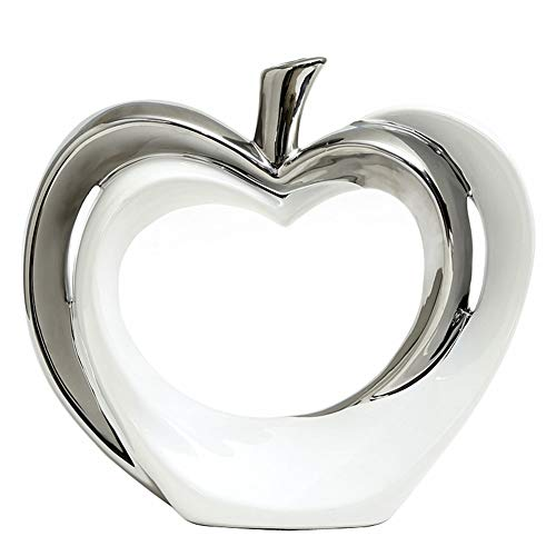 Anding Ceramic Statue Apple Statue Home Decoration Pottery Decoration Sculpture Silver Vase
