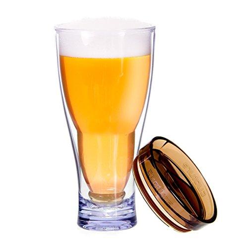 - Cupture Upside Down Beer Mug, 28oz (Brown)