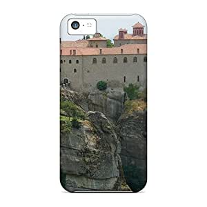 Durable Defender Case For Iphone 5c Tpu Cover(monastery Of St Stephen Meteora Greece)