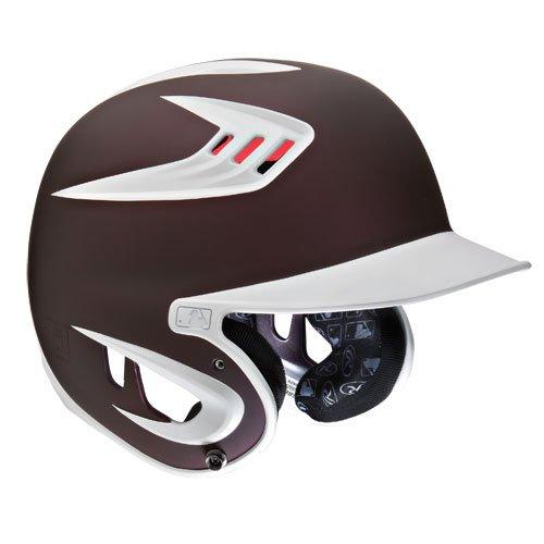 Rawlings 80Mph Rated Matte Batting Helmets Senior(7 1/4-7 3/4)|Matte Maroon by Rawlings