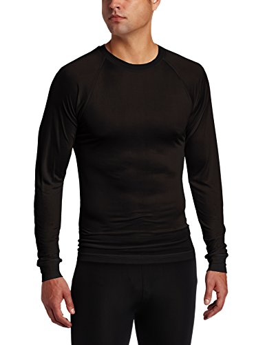 - Terramar Men's Thermasilk Filament Crew (Black, Medium)