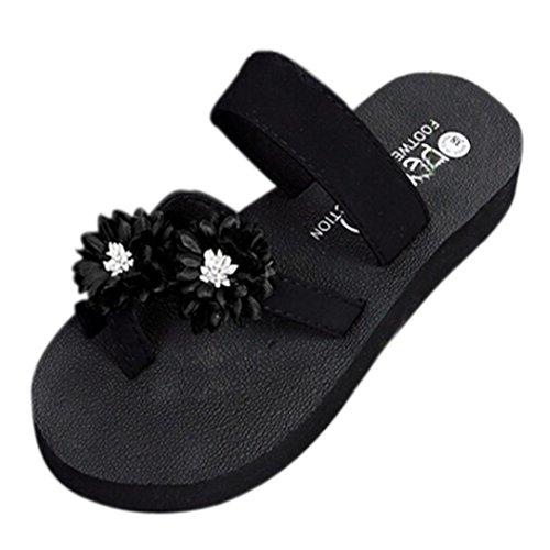 Out Zapato Planas Mujer Mujer Mujer Verano Hollow Plataforma Sandalias Chanclas Mujer Mujer Beach Sandalias de Morwind Verano Zapatillas Negro Zuecos Slippers Sandals Beach xSwPqpafS