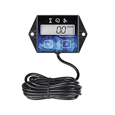 Runleader Digital Hour Meter Tachometer, Maintenance Reminder, Battery Replaceable, User shutdown, Use for ZTR Lawn Mower Tractor Generator Marine Outboard ATV Motor Snowmobile and Gas Powered: Automotive