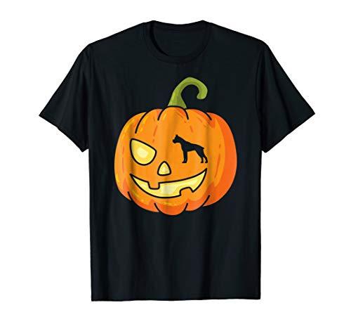 Cool Pumpkin Boxer Halloween T-Shirt -