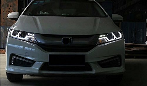 GOWE Car Styling For Honda City 2014-2016 LED Headlight for City Head Lamp with double U LED DRL Double lens Bi-Xenon HID KIT Color Temperature:6000k;Wattage:35w 4