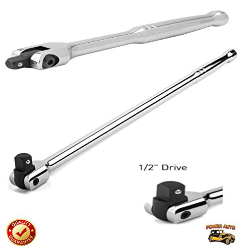 EXCLUSIVE 1/2 Inch Drive Premium Breaker Bar, 18 inch Long PLUS Impact Adapter & Reducer Set (5pc) - Power Auto Packaged Combo Set [Bundle: 1/2 Breaker Bar Torque Wrench & 5pc Impact Reducer/Adpator] by Power Auto (Image #2)