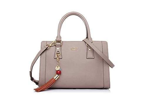 bonia-womens-beige-chic-tassel-satchel