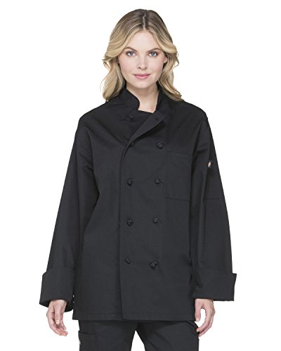 Dickies Chef Classic Knot Button Coat, Black, X-Large