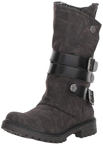 Blowfish Women's Rider Fashion Boot, Black Spindal Polyurethane, 9 Medium US