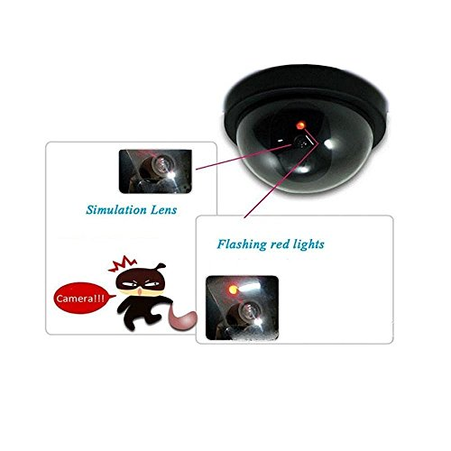 Divinezon Dummy CCTV Fake Dome Security Camera Motion Detection System