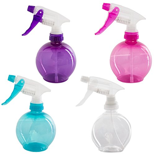 Sprayco (4 Pack) Empty Spray Bottles for Cleaning Cooking Hair & Makeup 12oz Plastic Spray Bottles