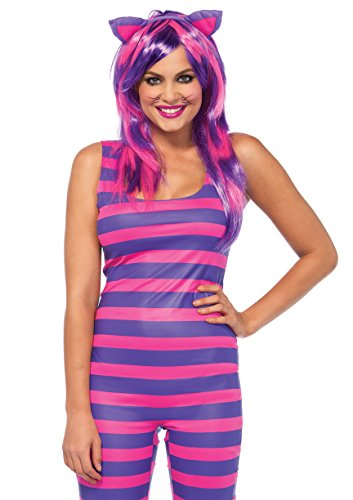 Leg Avenue Women's Darling Chesire Cat Halloween Costume, Pink/Purple, Medium