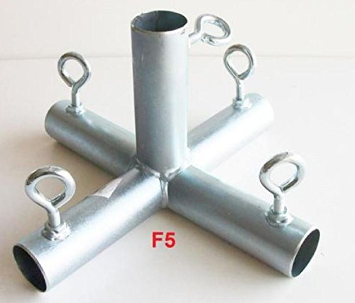 5 way FLAT TOP CENTER 1 CANOPY FITTING (F5B) ~ 1 pipe