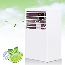 LOHOME Mini Desk Air conditioner Fan - 3 Speed Humidify and Cooler Fan Spraying Air Conditioning - Quiet Protable Bladeless Fan (White)
